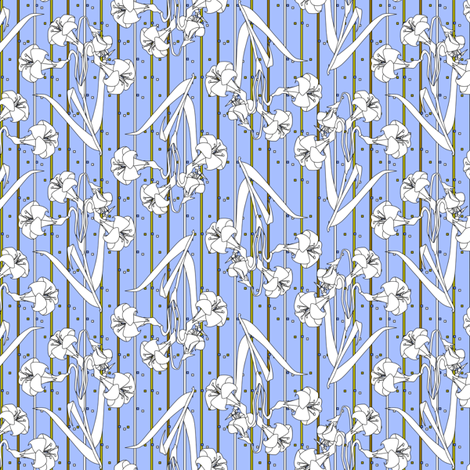 ©2011 ghost lily fabric by glimmericks on Spoonflower - custom fabric