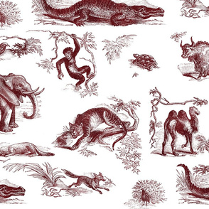 Victorian Animals Toile - Asia