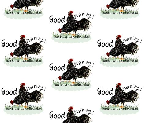 roosters1-ed fabric by paragonstudios on Spoonflower - custom fabric