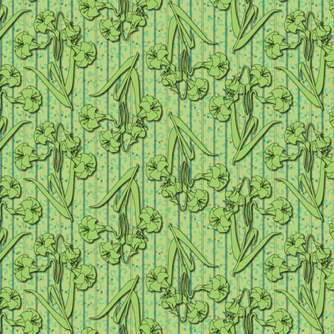 ©2011 green lily fabric by glimmericks on Spoonflower - custom fabric