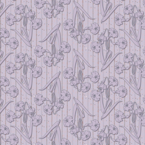 ©2011 orchid lily fabric by glimmericks on Spoonflower - custom fabric