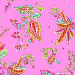 Paisley,pink,