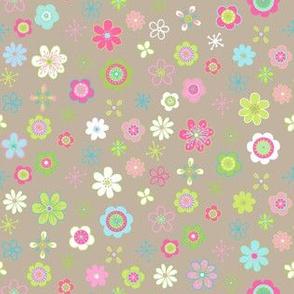 little, floral,retro