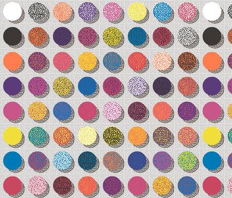 The point of Pointillism: a study in Spoonflower inks fabric by victorialasher on Spoonflower - custom fabric