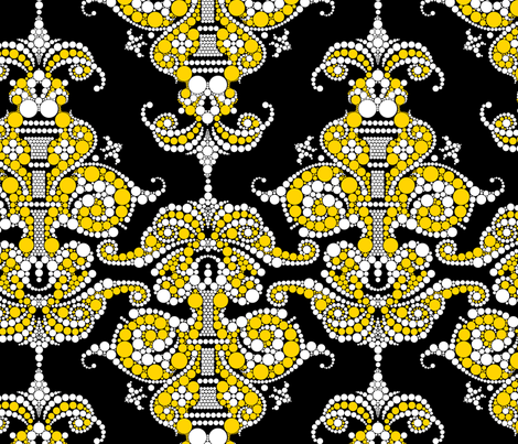 Putting a point on it - Gold and Black fabric by thirdhalfstudios on Spoonflower - custom fabric