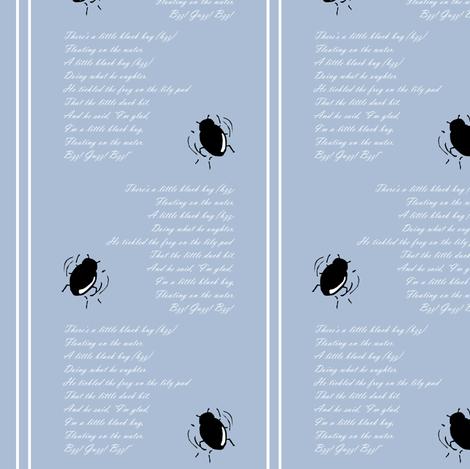 Little Black Bug fabric by pond_ripple on Spoonflower - custom fabric