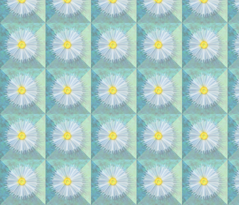 ©2011 diaphanous daisies fabric by glimmericks on Spoonflower - custom fabric