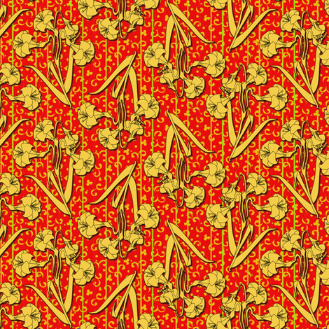 ©2011 gilded lily fabric by glimmericks on Spoonflower - custom fabric