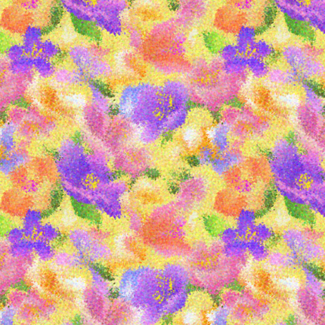 I can't wait for spring fabric by vo_aka_virginiao on Spoonflower - custom fabric