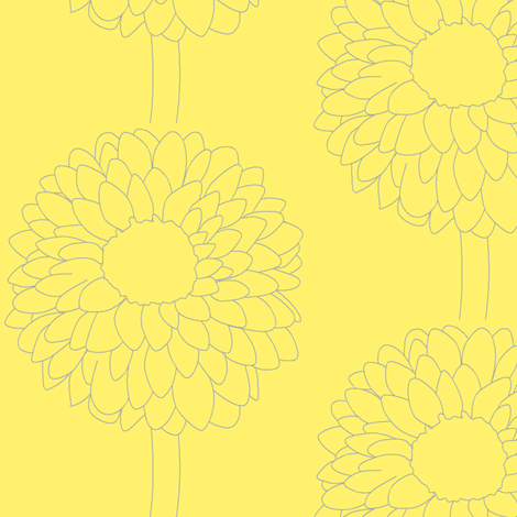 Lovely Yellow Dahlias fabric by softnyellow on Spoonflower - custom fabric