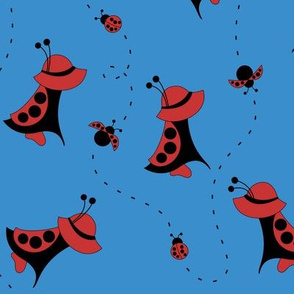 Sunbonnet Sue Ladybug Costume (Blue)