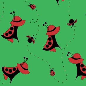 Sunbonnet Sue Ladybug Costume (Green)