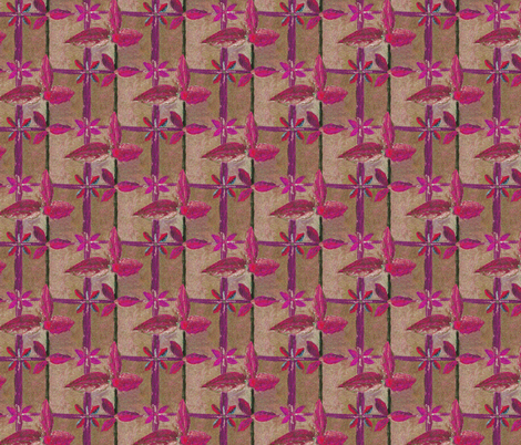 Floral Lattice Garden in the Glowing Autumnal  Sunset fabric by rhondadesigns on Spoonflower - custom fabric