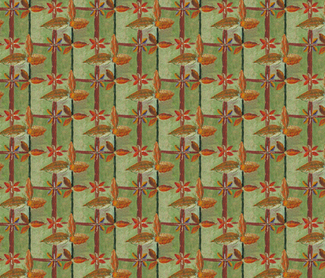 Floral Lattice - Summer Days fabric by rhondadesigns on Spoonflower - custom fabric