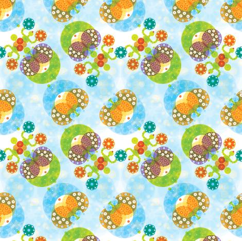 Ocean Garden & Sea Cucumbers - © Lucinda Wei fabric by lucindawei on Spoonflower - custom fabric
