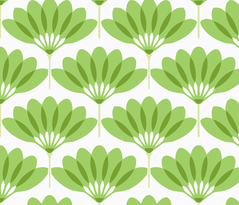 Fan green fabric by myracle on Spoonflower - custom fabric