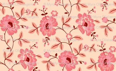 Climbing rose pink