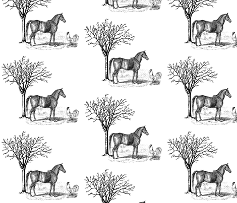 Horse n Cock fabric by dolphinandcondor on Spoonflower - custom fabric