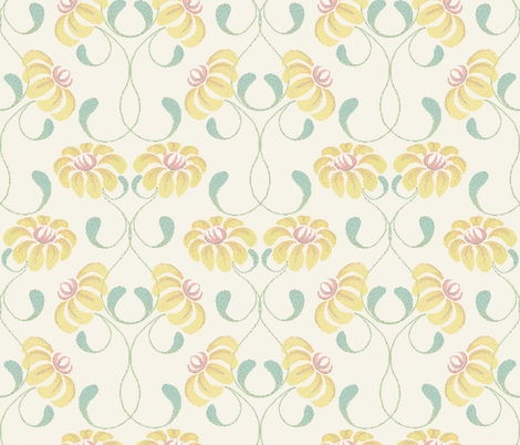 Dot Your 'Eyes' - Spring Vine (see flickr link for detail) fabric by ttoz on Spoonflower - custom fabric