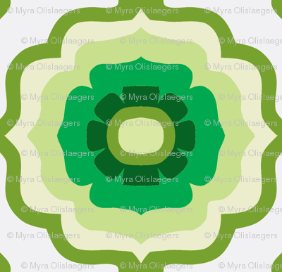 Flowertile layered green