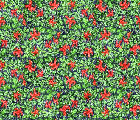 Flowering Bush fabric by lulakiti on Spoonflower - custom fabric