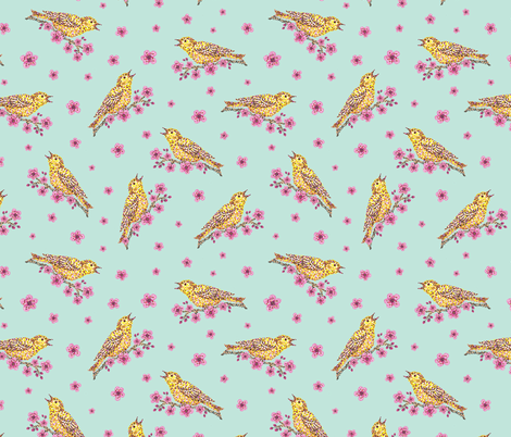 Spring Song fabric by gracedesign on Spoonflower - custom fabric
