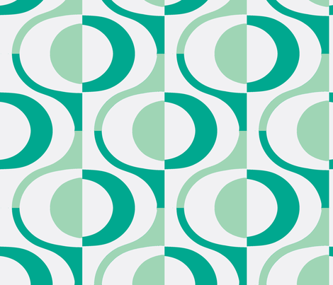 loop teal fabric by myracle on Spoonflower - custom fabric