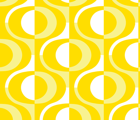 loop yellow fabric by myracle on Spoonflower - custom fabric