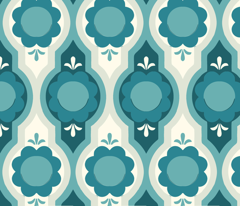 Sweet flowers blue fabric by myracle on Spoonflower - custom fabric