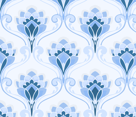 crown flower ice fabric by myracle on Spoonflower - custom fabric