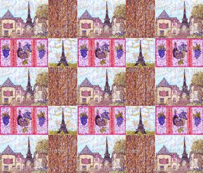 Paris Cityscape Pointillism by Kristie Hubler