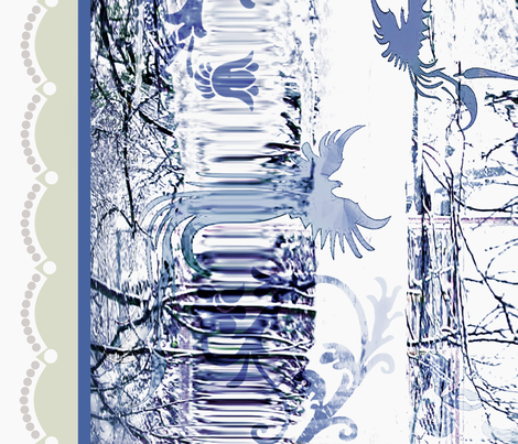 Delft blue Ice fabric by paragonstudios on Spoonflower - custom fabric