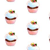 Pink Cupcake & Pansy