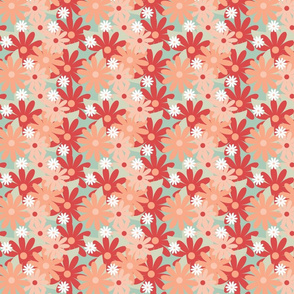 Coral And Seafoam Flowers