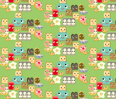 Breakfast too fabric by heidikenney on Spoonflower - custom fabric