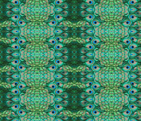 ©2011 peacock 1 fabric by glimmericks on Spoonflower - custom fabric