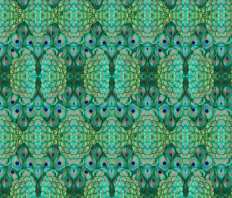 ©2011 peacock-3 fabric by glimmericks on Spoonflower - custom fabric