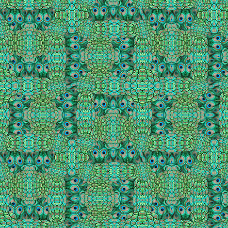 ©2011 peacock-7 fabric by glimmericks on Spoonflower - custom fabric