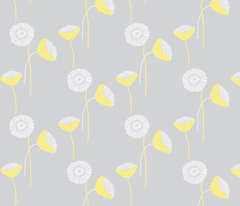 "POPPY in  ""LEMONADE & MIST"" fabric by trcreative on Spoonflower - custom fabric"