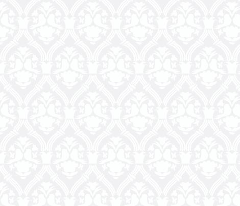 """HAPPY DAMASK in """"FOG"""" MODERN fabric by trcreative on Spoonflower - custom fabric"""