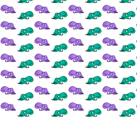 Colored Squids fabric by smutchy on Spoonflower - custom fabric