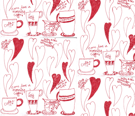 Morning Coffee fabric by enyahulk on Spoonflower - custom fabric