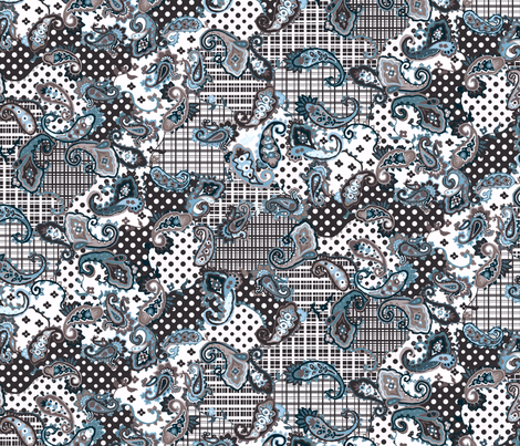 Pretty Prancing Paisley fabric by aelizme on Spoonflower - custom fabric