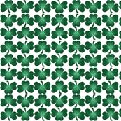 Engraved Green Metallic Shamrocks