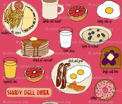 Breakfast @ Shady Dell (pink)