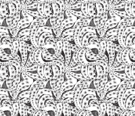 SquidInvasion2 fabric by arsiefartsietjitsie on Spoonflower - custom fabric