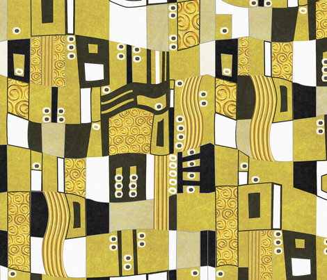 After Klimt - Man fabric by glimmericks on Spoonflower - custom fabric