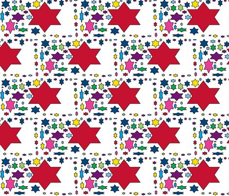 JamJax Starry Star fabric by jamjax on Spoonflower - custom fabric