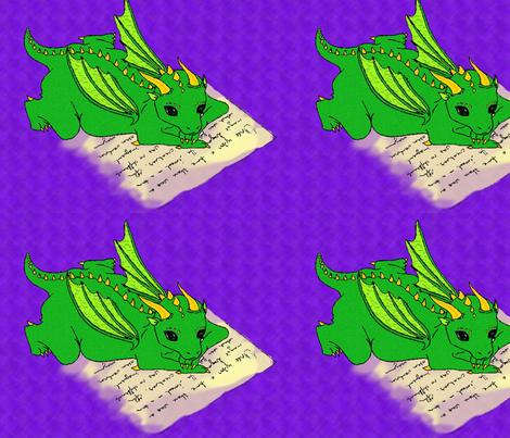 Dragon_Big fabric by lomitchell on Spoonflower - custom fabric