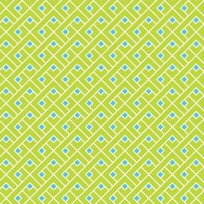 Basket Blocks (Lime / Aqua)